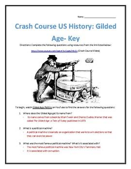 Crash Course U.S. History #26- Gilded Age Video Analysis