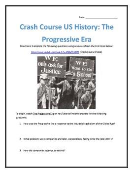 Crash Course U.S. History #27- The Progressive Era Video Analysis