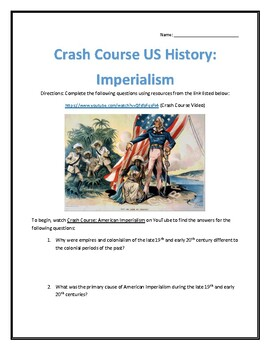 Crash Course U.S. History #28- Imperialism Video Analysis
