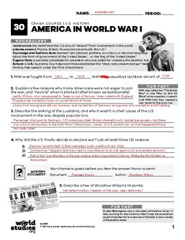 Crash Course U.S. History 30: America in World War I (World War One)