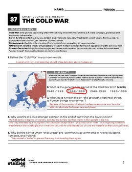Crash Course U.S. History 37: The Cold War
