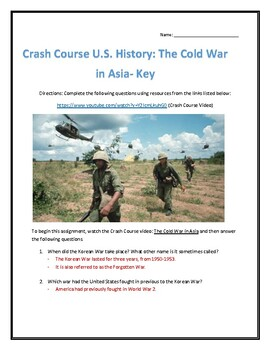 Crash Course U.S. History #38- The Cold War in Asia Video Analysis