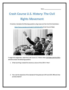 Crash Course U.S. History #39- Civil Rights and the 1950's Video Analysis