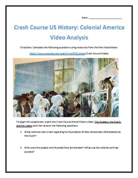 Crash Course U.S. History #4- Colonial America Video Analysis
