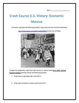 Crash Course U.S. History #42- Economic Malaise Video Analysis