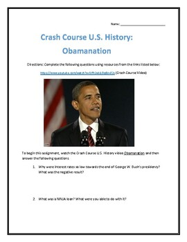 Crash Course U.S. History #47- Obamanation Video Analysis