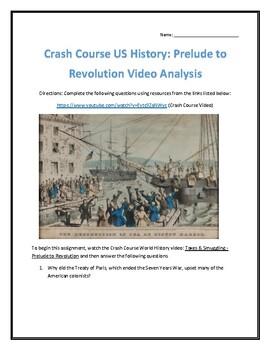 Crash Course U.S. History #6- Prelude to Revolution Video Analysis