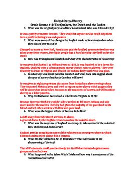 Crash Course U.S. History Bundle (Episodes 4-40)