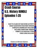 Crash Course U.S. History Episodes 1-25 BUNDLE