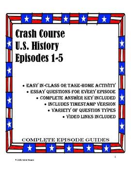Crash Course U.S. History Episode Guides, Ep. #1-5 (Colonization)