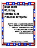 Crash Course U.S. History Episodes 16-20 AND Special on 4t