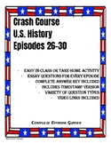 Crash Course U.S. History Episodes 26-30 (Progressive Era/World War I)