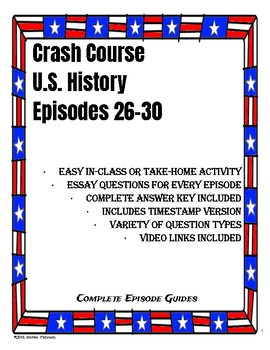 Crash Course U.S. History Episodes 26-30 (Progressive Era/World War I)