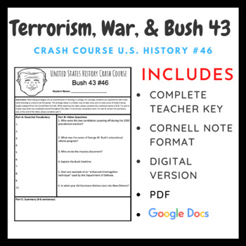 Crash Course U.S. History: Terrorism, War, and Bush 43 #46