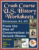 Crash Course U.S. History Worksheets: Episodes 41-47
