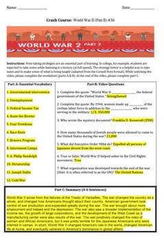 Crash Course U.S. History: World War II (Part I) #36