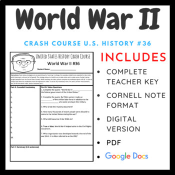 Crash Course U.S. History: World War II (Part I) #36