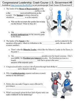 Crash Course US Government and Politics Worksheets Complete Set (Full Bundle)