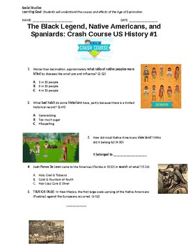 Crash Course US History #1 Video Questions