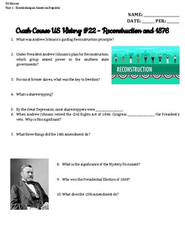 Crash Course US History 21-30 Bundle