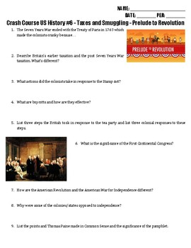 Crash Course US History #6 - Prelude to Revolution