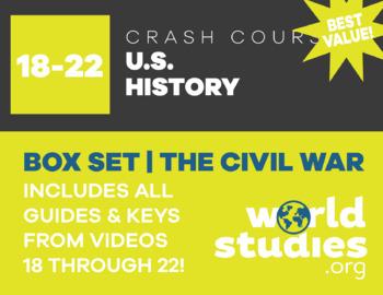 "Crash Course  US History Civil War Era ""Box Set"" Episodes  18-22"