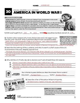"Crash Course  US History Conflict ""Box Set"" 5 Episodes  WWI, WWW, Cold War"