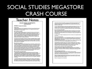 Crash Course US History Ep. # 1-47, Government & Politics Ep. # 1-50
