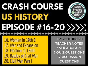 Crash Course US History Ep. 16-20