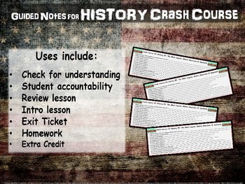 Crash Course US History GUIDED NOTES #12 - The Market Revolution