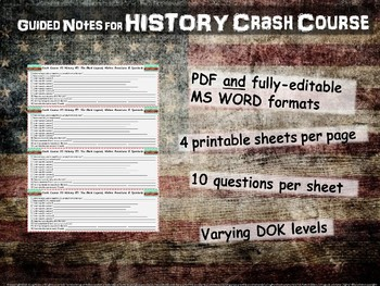 Crash Course US History GUIDED NOTES #18 - Election of 1860 & Road to Disunion