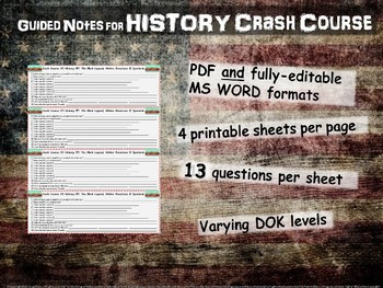 Crash Course US History GUIDED NOTES #27 - The Progressive Era