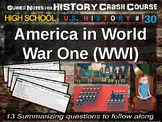 Crash Course US History GUIDED NOTES #30 - America in World War One (WWI)