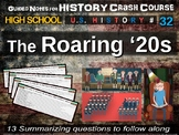 Crash Course US History GUIDED NOTES #32 - The Roaring '20s