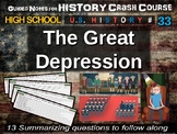 Crash Course US History GUIDED NOTES #33 - The Great Depression