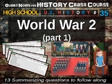 Crash Course US History GUIDED NOTES #35 - World War Two (WW2) PART 1