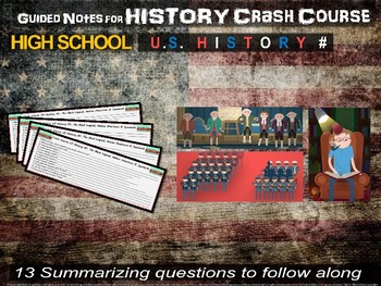 Crash Course US History GUIDED NOTES MEGA BUNDLE #1 through #47