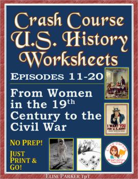 Crash Course US. History Worksheets: Episodes 11-15