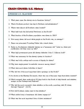 Crash Course U S History Worksheets Episodes 11 15 By Elise Parker Tpt