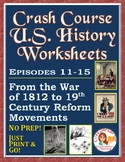 Crash Course U.S. History Worksheets: Episodes 11-15