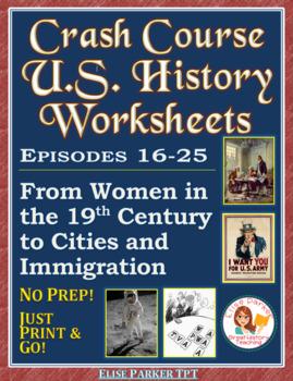 Crash Course US. History Worksheets: Episodes 16-20