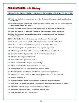 Crash Course U S History Worksheets Episodes 6 10 By Elise Parker Tpt