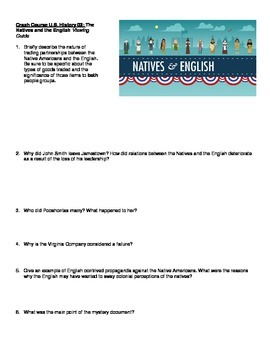 Crash Course U.S. History by J. Green, Viewing Guide for Episodes 1-4