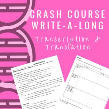 Crash Course WAL (write-a-long): DNA Transcription and Translation