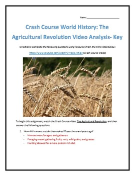 Crash Course World History #1- Agricultural Revolution Video Analysis