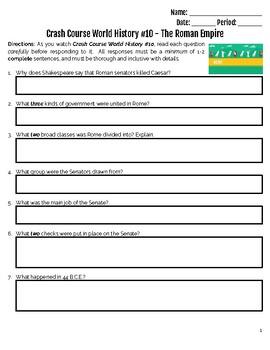 Crash Course World History #10 - The Roman Empire.  Or Republic.