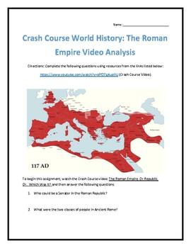 Crash Course World History #10- The Roman Empire Video Analysis