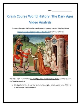 Crash Course World History #14- The Dark Ages Video Analysis