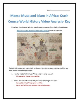 Crash Course World History #16- Mansa Musa and Islam in Africa Video Analysis
