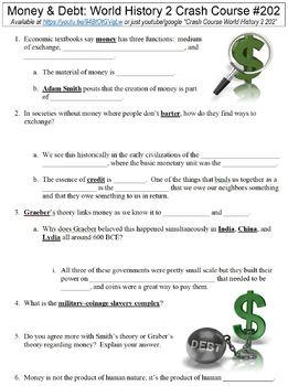 Crash Course World History 2 #202 (Money & Debt) worksheet